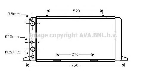AI2026 Радиатор AUDI A80 1.6-2.0 87-92