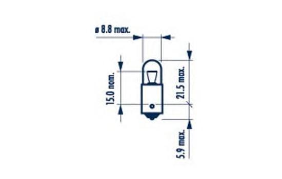 17141 Лампа накаливания для грузовых автомобилей 10шт в упаковке T4W 24V 4W BA9s