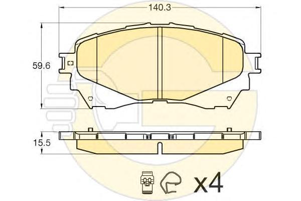 6135806 Колодки тормозные MAZDA 6 12- передние