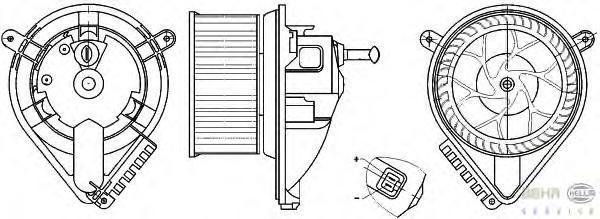 8EW351304021 Мотор отопителя MB SPRINTER -A/C 95-06