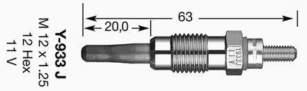 7947 Свеча накала D-Power 25 Y-933J