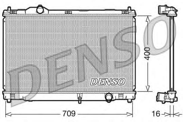 DRM51008 Радиатор двигателя LEXUS GS (05-11)