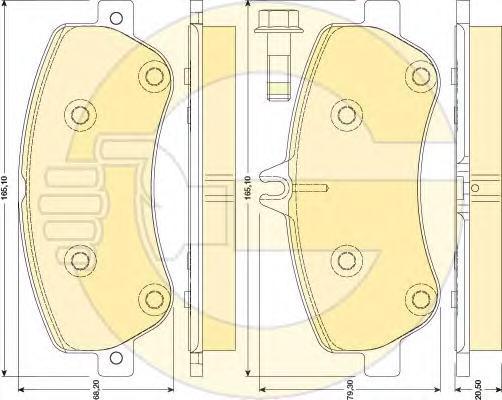 6117984 Колодки тормозные MERCEDES GLK X204 2.2-3.5 передние