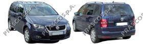 VW7171244 Накладка переднего бампера левая-грунтованная / VW Touran 07~10