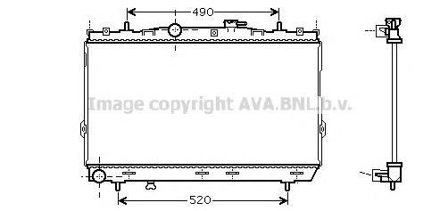HY2104 Радиатор системы охлаждения HYUNDAI: COUPE (GK) 1.6 16V 01 -