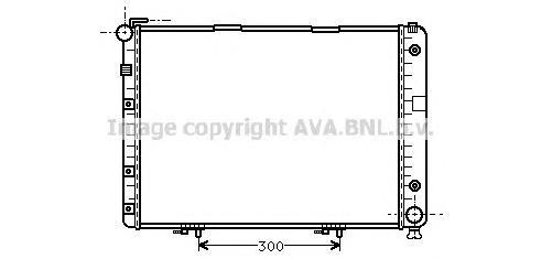 MSA2154 Радиатор MB W124 4.0/6.0 91-96