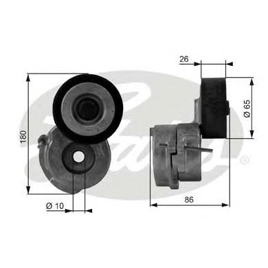 T38440 Натяжитель ремня приводного OPEL/FIAT/SUZUKI 1.3D 03-
