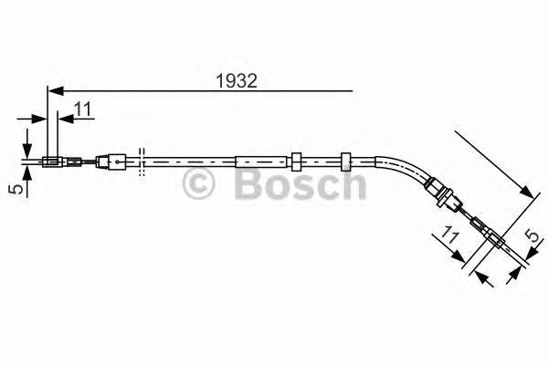 1987477904 Трос ручного тормоза MB W163 -05 1932мм