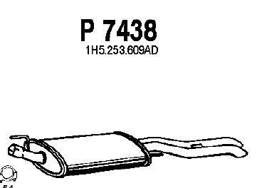 P7438 Глушитель VW VENTO 1.9 SDI/TDI 93-98