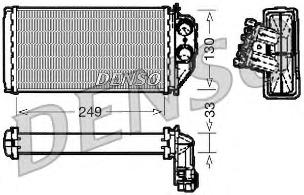 DRR21002 Радиатор отопителя PEUGEOT: 307 (3A/C) 1.4 HDi/1.6 HDi/1.6 HDi 110/2.0 HDi 110/2.0 HDi 135/2.0 HDi 90 00 - , 307 Break
