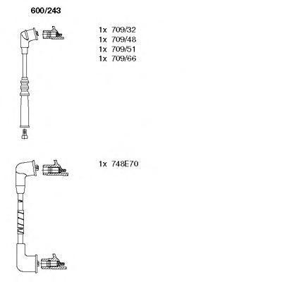 600243 Комплект проводов зажигания