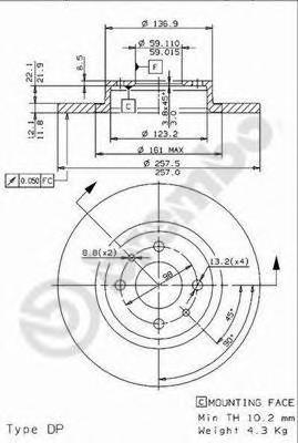 14834e Тормозной диск