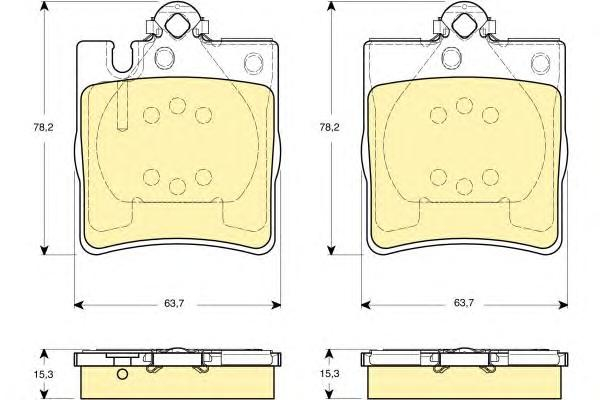 6114212 Колодки тормозные MERCEDES W203 00/A208/A209 CLK задние