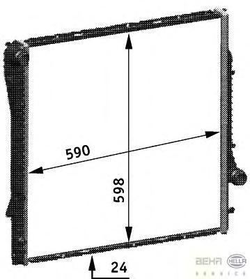 8MK376718764 Радиатор BMW E53 3.0/4.4/3.0D 00-