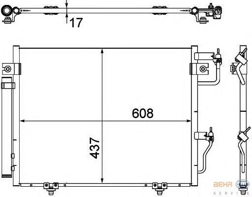 8FC351307371 Конденсер MITSUBISHI PAJERO 3.0/3.8/3.2TD 07-