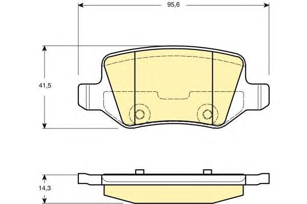 6114811 Колодки тормозные MERCEDES W168/W169/W245/W414 VANEO задние