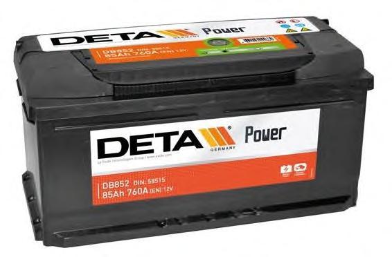 db852 Аккумулятор DETA POWER 12 V 85 AH 760 A ETN 0(R+) B13 352x175x175mm 20.4kg