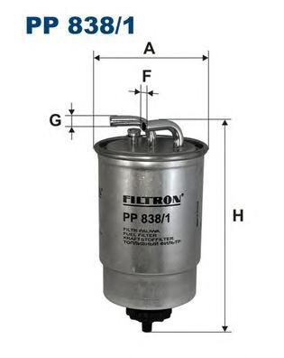 PP8381 Фильтр топливный FORD ESCORT 1.8D/TD 90-99