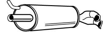 21563 Глушитель выхлопных газов конечный