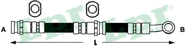 6T47922 Шланг тормозной NISSAN ALMERA (N15) 95-00 передний левый