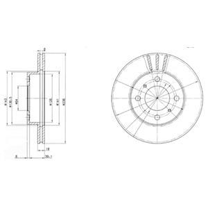 BG2810 Диск тормозной MITSUBISHI CARISMA 1.6/1.9 95-06/COLT 92-05/LANCER 92-03 передний