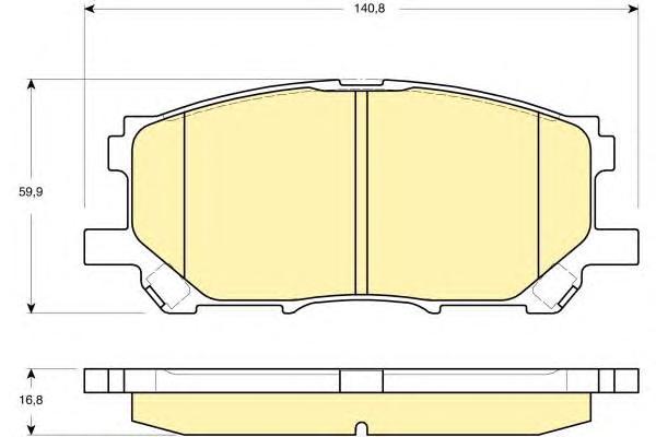 6133389 Колодки тормозные LEXUS RX300/RX330/RX350 0308/RX400H 0509 передние
