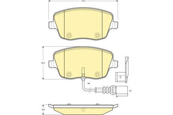 6114721 Колодки тормозные SKODA FABIA/VOLKSWAGEN POLO 1.2-1.9D 01- передние
