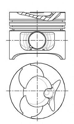8774310010 Поршень MB SPRINTER OM601/OM602/OM662 -06 1mm(комплект)