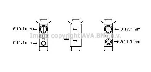 MS1124 Клапан кондиционера расширительный MERCEDES-BENZ: C CLASS (W204) C 180 KOMPRESSOR (204.046)/C 200 CDI (204.007)/C 200 KOM