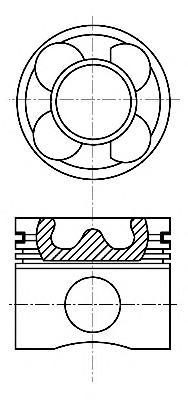 8711440540 Поршень BMW 3(E46)/1(E81)/5(E39/E60)/X3(E83) 0,25mm(комплект)