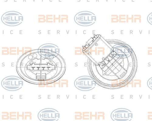 5HL351321301 Блок управления отопителем VW POLO 01-