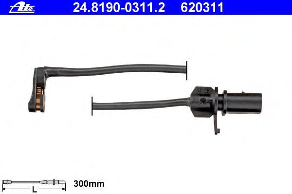 24819003112 Датчик износа тормозных колодок AUDI: A6 Allroad 12-, A6 Avant 11-, A7 Sportback 10-, Q5 08-