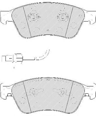 FDB1832 Колодки тормозные AUDI A6/A8/VOLKSWAGEN PHAETON 2.7-6.0 02- передние