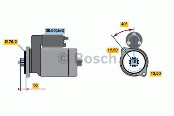 0001120400 Стартер AUDI,SEAT,SKODA,VW 1.2/1.4/1.6 99~