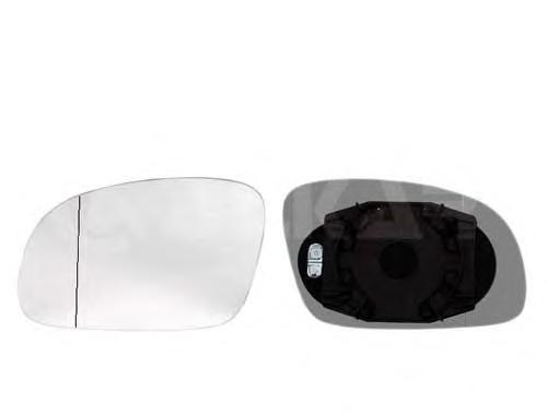6432103 Стекло зеркала правое, сферическое с подогревом / VW New Beetle 02~