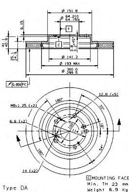 09954410 Тормозной диск