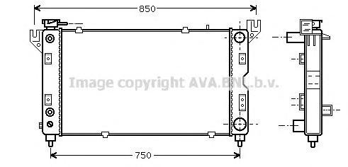 CR2028 Радиатор CHRYSLER VOYAGER 2.0-3.3 95-02