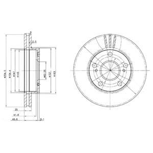 BG3172 Диск тормозной Fr TO Previa 90-00