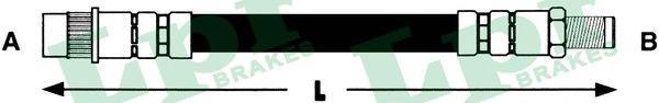 6T46616 Шланг тормозной CITROEN BERLINGO/PEUGEOT PARTNER 96- пер.