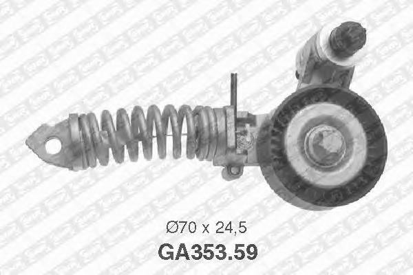 GA35359 Натяжитель ремня приводного OPEL ASTRA G/CORSA D 1.2/1.4