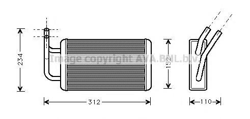 FD6215 Радиатор отопителя FORD: TRANSIT c бортовой платформой/ходовая часть (E_ _) 2.0 (EME/L/S, ENE/L/S)/2.5 DI (EME/L/S, ENE/L