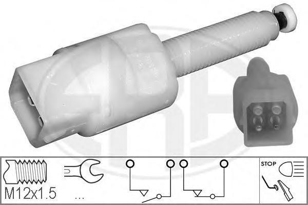 330328 Датчик стоп-сигнала AUDI: A4 (8D2, B5) 1.6/1.8/1.8 quattro/1.8 T/1.8 T quattro/1.9 TDI/1.9 TDI quattro/2.4/2.4 quattro/2.