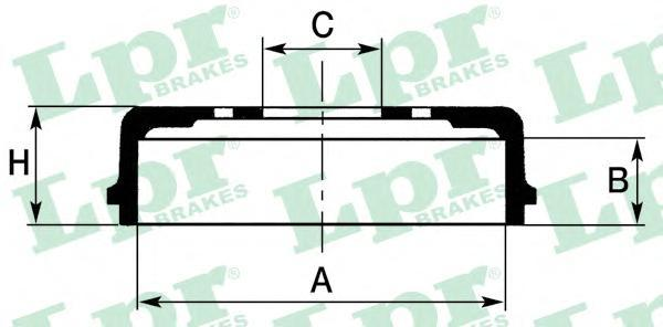 7D0355 Барабан тормозной TOYOTA 4RUNNER 2.4-3.4 86-97/HIACE 84-89/HILUX 2.2-2.5 88-