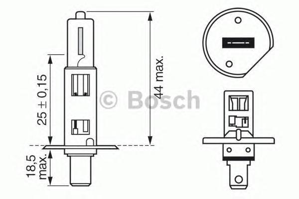 1987302018 Лампа галогенная H1 12V 55W P14.5s Longlife Daytime (увеличенная светоотдача на 10% и увеличенный в три раза срок слу