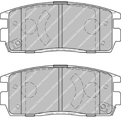 FDB1935 Колодки тормозные CHEVROLET CAPTIVA/OPEL ANTARA 2.4/3.2 06- задние