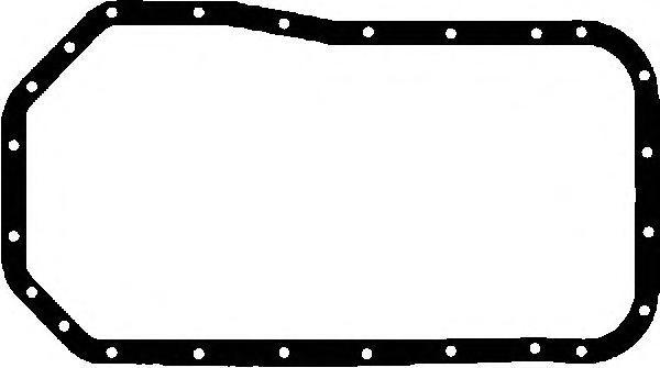715246200 Прокладка масляного поддона Hyundai 2.5D 93 Mitsubishi Pajero 2.5TD 88