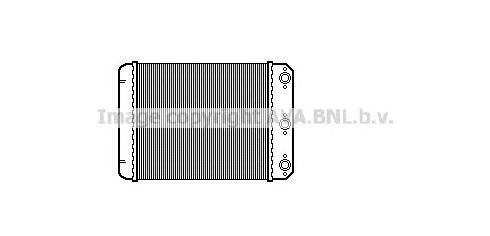 MSA6107 Радиатор отопителя MB W124 2.0-3.0D 85-93