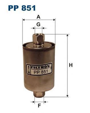 PP851 Фильтр топливный LADA SAMARA/NIVA инжектор