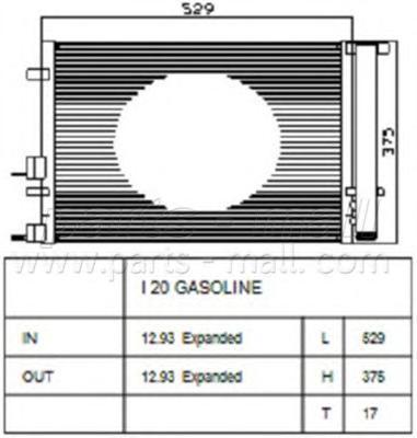 PXNCA103 Конденсатор AC Hyindai i20(PB) 08-