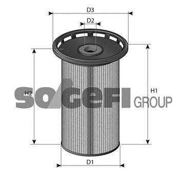 C803 Фильтр топливный PORSCHE: CAYENNE 3.0TDI 10-  VW: TOUAREG 3.0TDI/4.2TDI 10-